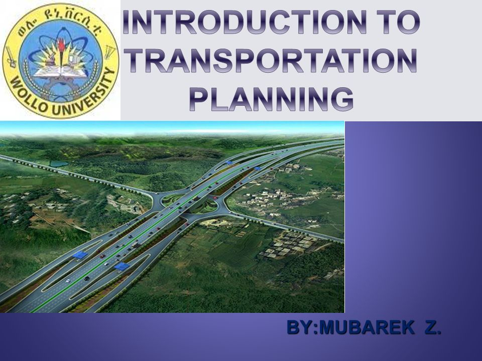 transport planning intro