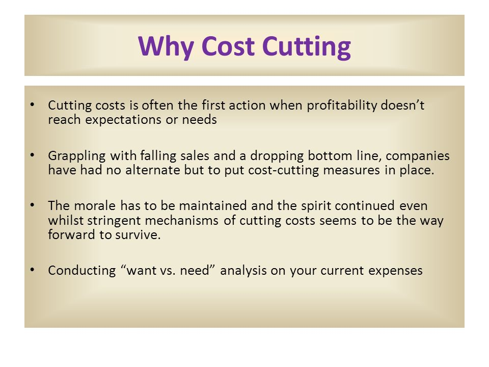 Cost Cutting Ppt Video Online Download