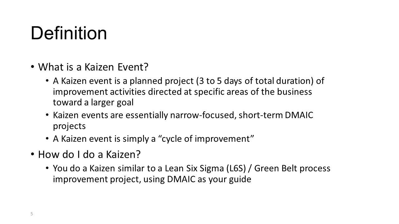 kaizen project