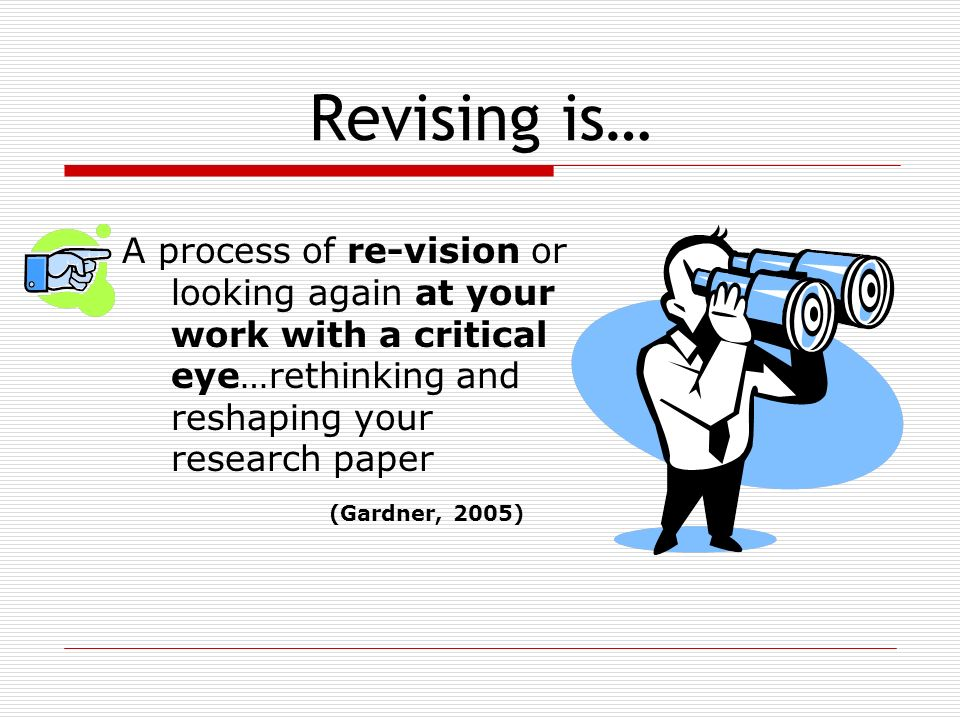 editing and revising research papers
