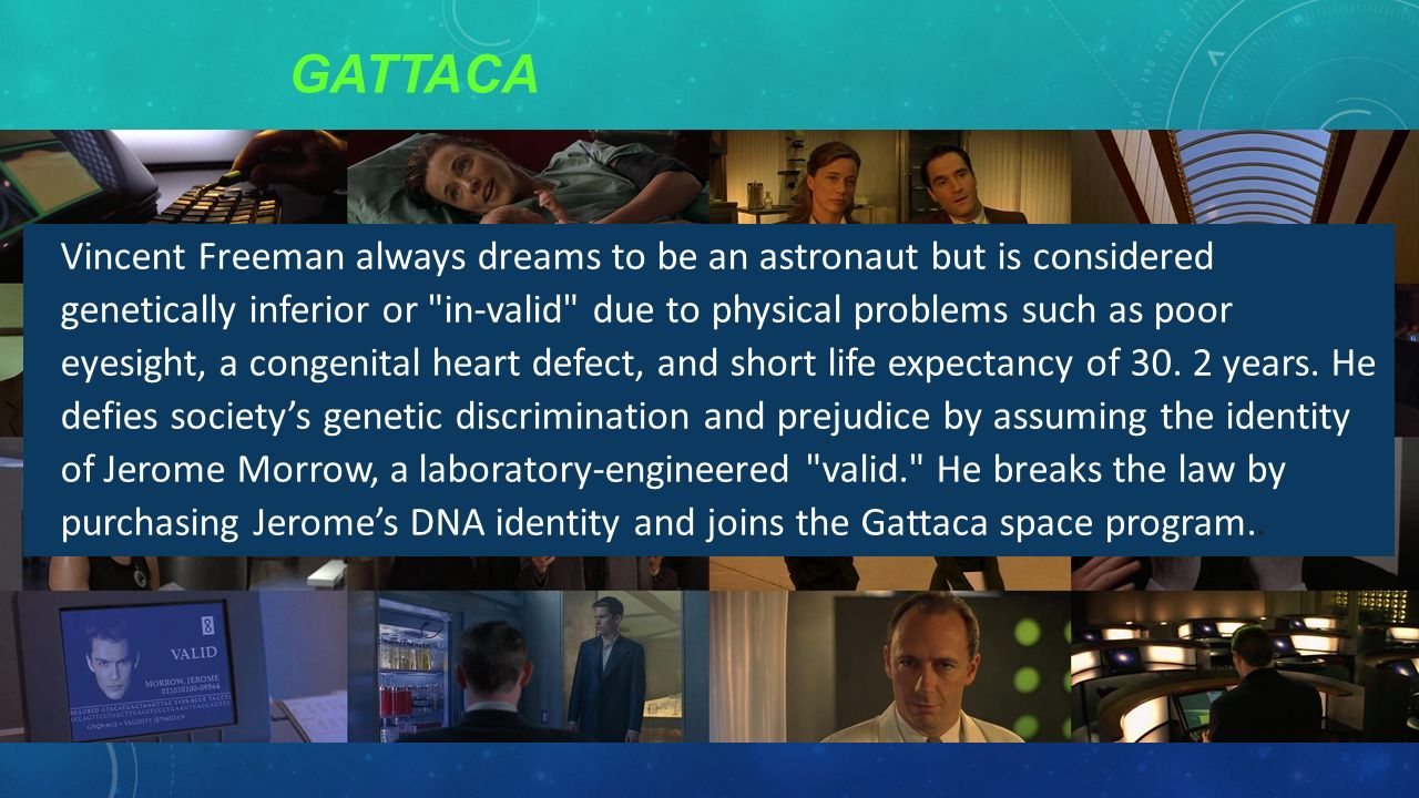 what shows gattaca ? essay Gattaca study guide contains a biography of director andrew niccol, literature essays, quiz questions, major themes, characters, and a full summary and analysis.