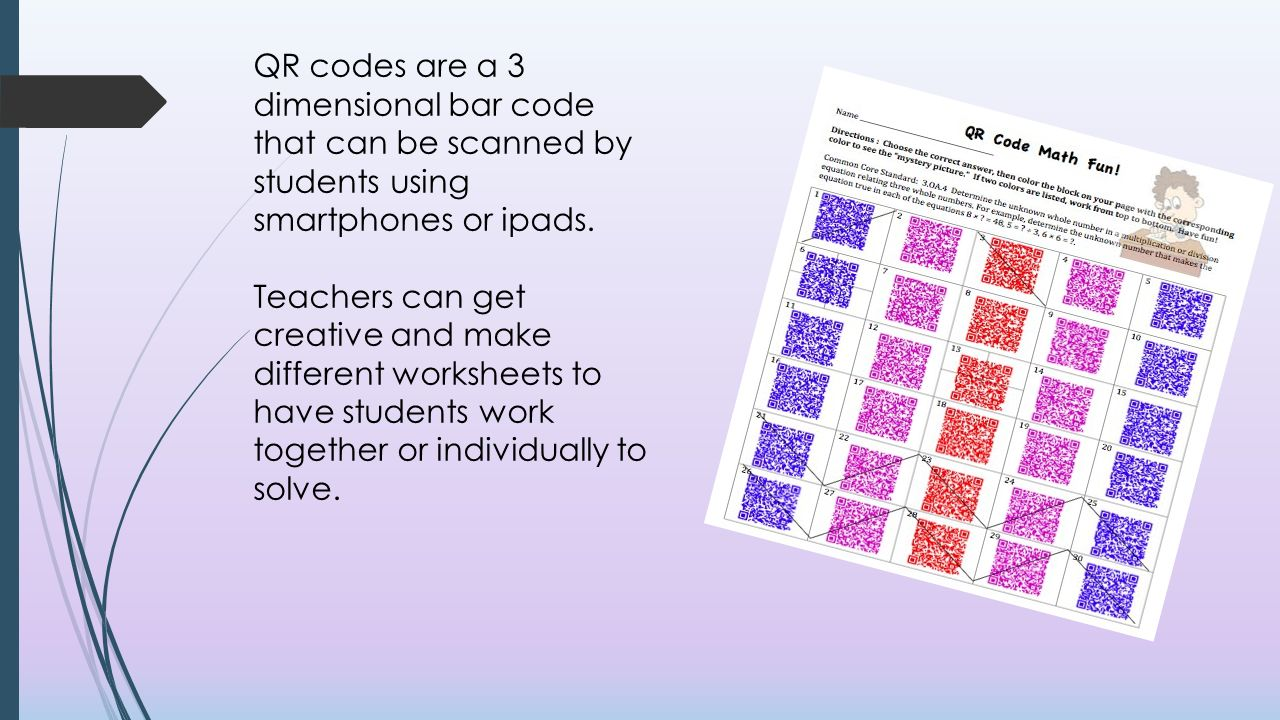 Using Qr Codes In The Classroom Ppt Video Online Download