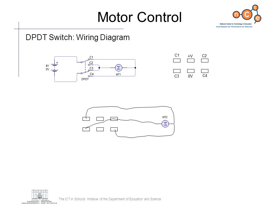 Motor Control DPDT Switch: Wiring Diagram