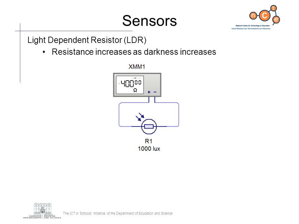 Sensors Light Dependent Resistor (LDR)
