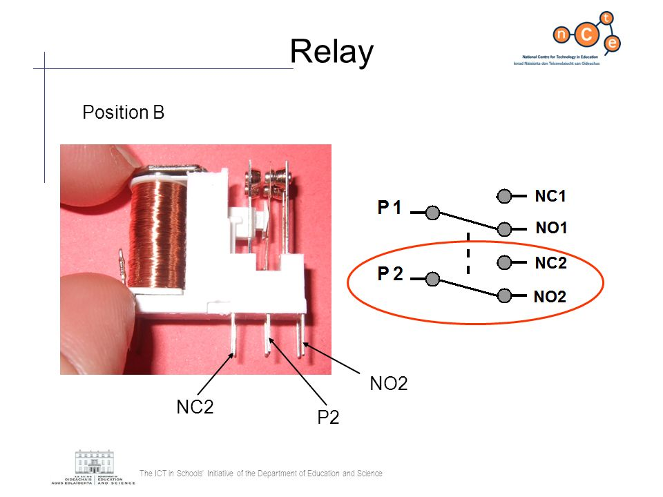 Relay Position B NO2 NC2 P2