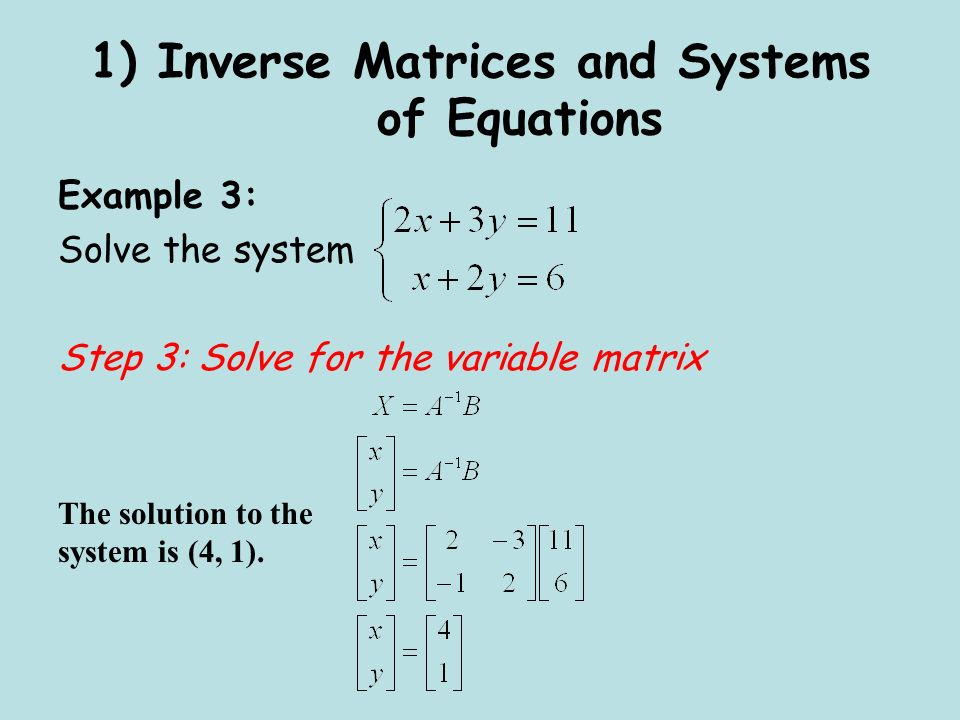 solving linear equations using matrices pdf