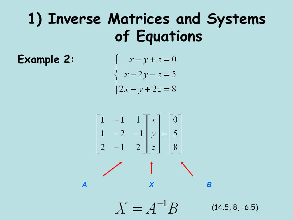 Matrix Equations Calculator