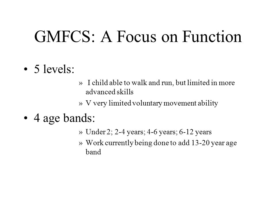 Gross Motor Function Classification System (GMFCS) - ppt video ...
