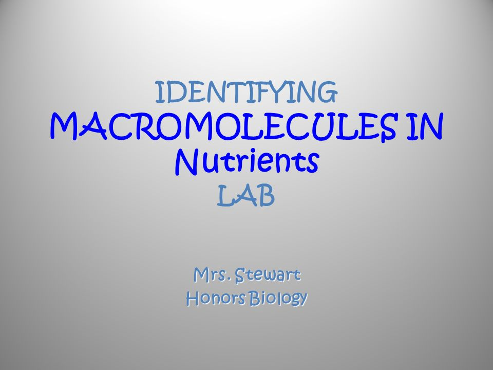 macromolecule lab Learning target: describe the general structure, subunits, and examples for each of the four types of macromolecules create models to show the arrangements of.