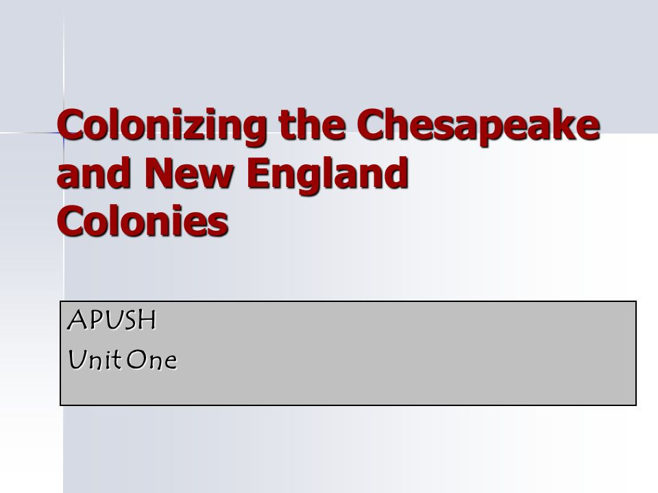 a discussion on chesapeake and new england What were some of the similarities and differences between the founding of the new england colonies and compared to new england, chesapeake society.