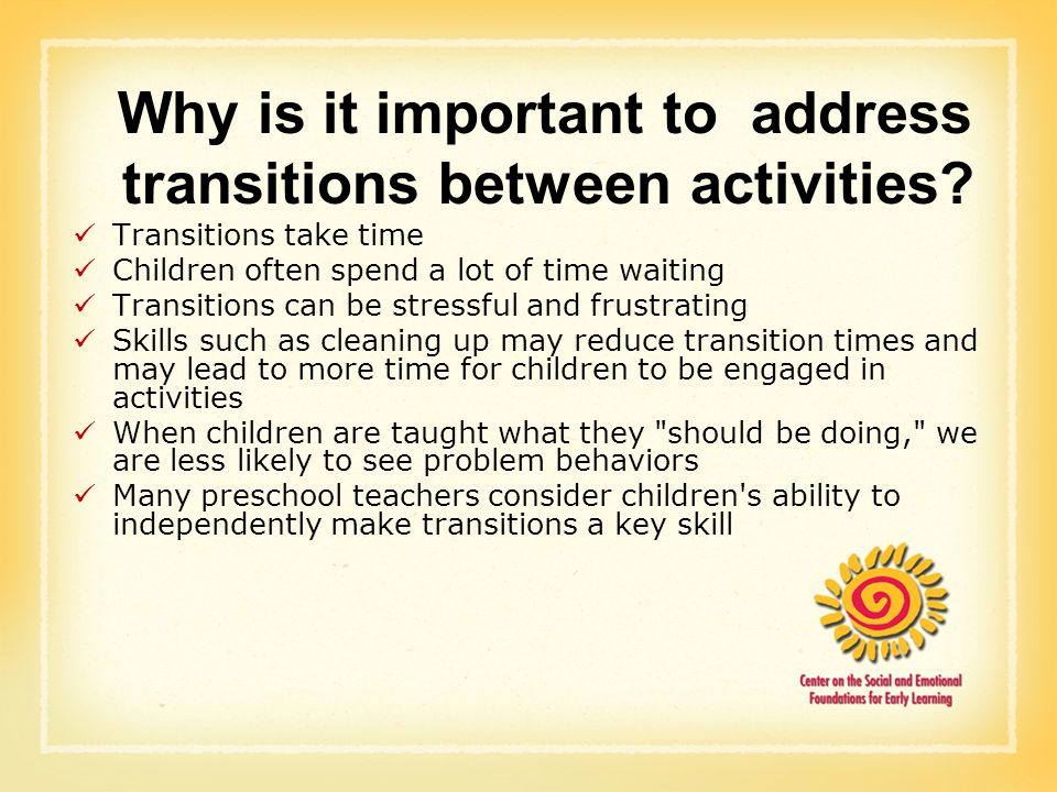 transition activities for preschool children helping children make transitions between activities ppt 176