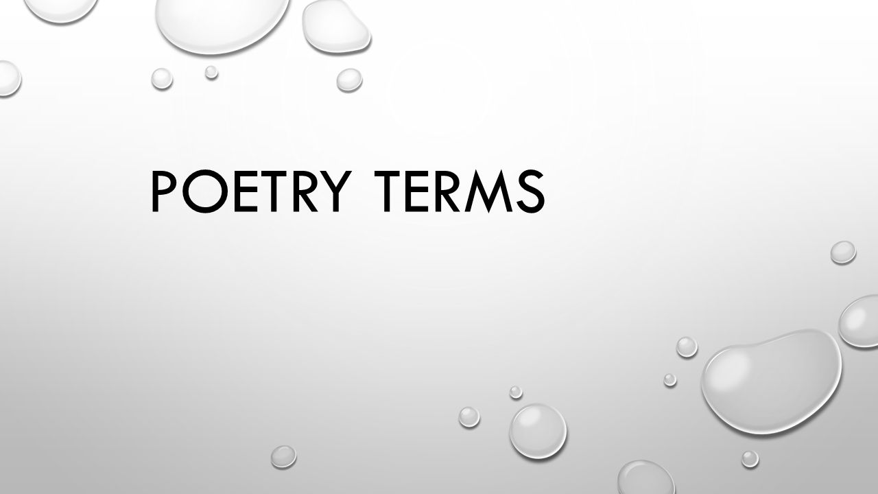 terms of poetry The purpose of the 'terms of use' page is to clarify how you may use the content on this site please read these terms before you take the poetry, card verses, songs and devotionals.