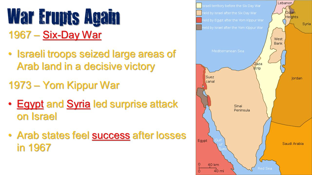 an essay on israel and its wars the six day war and the yom kippur october war The october 1973 war (yom kippur) essay to 25 october, 1973 the war was between israel and a kippur war after the 1967 six day war, israel captured.