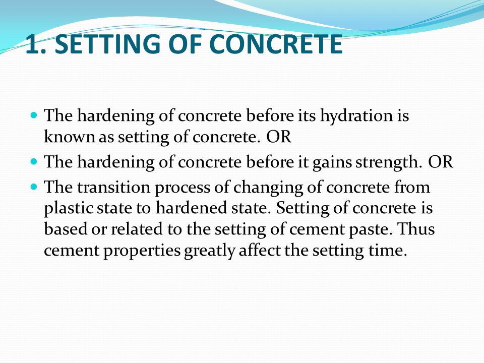 Cement Setting Time : Unit ii concrete ppt video online download