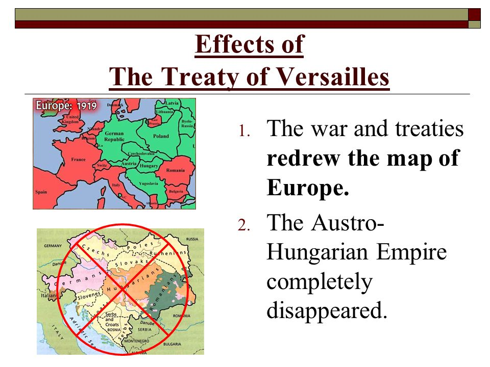 an evaluation of the effects of the treaty of versailles on germany This chapter offers a genesis of the forced disarmament of germany after its defeat in the first world war keywords: germany , first world war , forced disarmament , austria , bulgaria , hungary , allies , treaty of versailles.