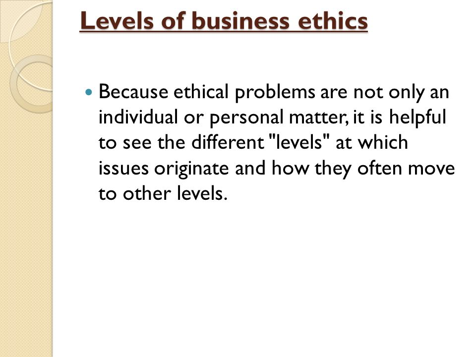 business areas the ethical problems lie The common reaction is to encourage nonprofits to develop a code of ethics and perhaps become certified as ethical organizations by the maryland association of nonprofit organizations or the better business bureau.