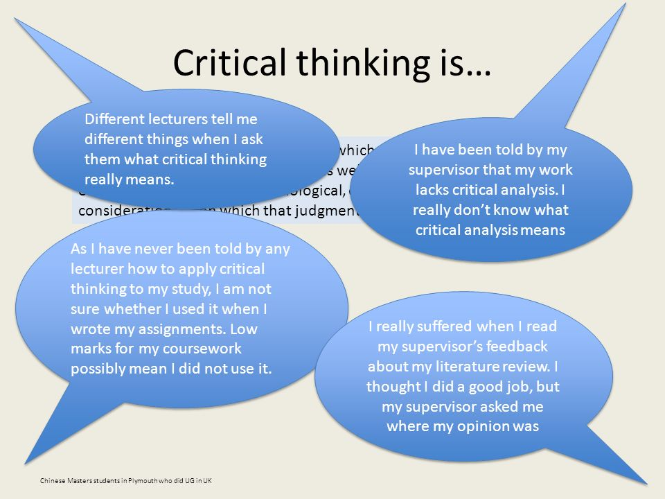 Critical thinking and chinese university students a review of the evidence