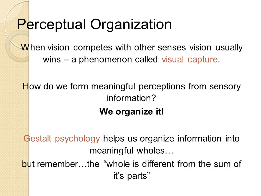 perceptual organization unit 3 rg 4e ppt