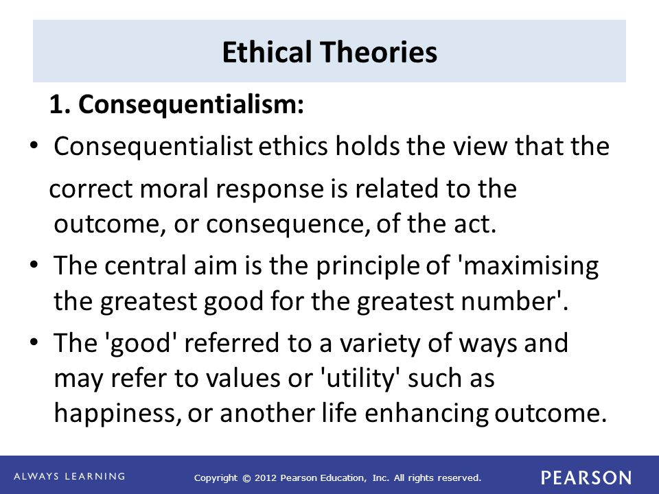 ethical decision making from a consequentialist Moral decision making is the ability to produce a reasonable and defensible answer to an ethical question many ethics teachers sensibly spend much of their time contrasting deontological (rule-based) approaches to deciding ethical issues to consequentialist approaches.