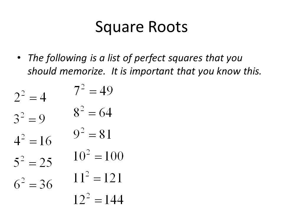 Square Roots/Addition - ppt download