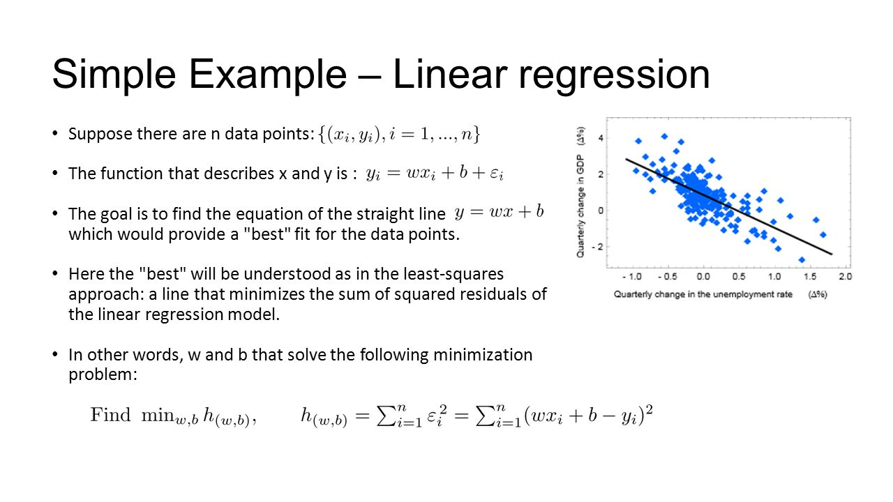 forecasting simple linear regression applications Linear regression is the simplest form of relationship models, which assume that the relationship between the factor of interest and the factors aecting it is linear in nature therefore, this regression cannot be used to do very complex analytics, but provide a good starting point for analysis.