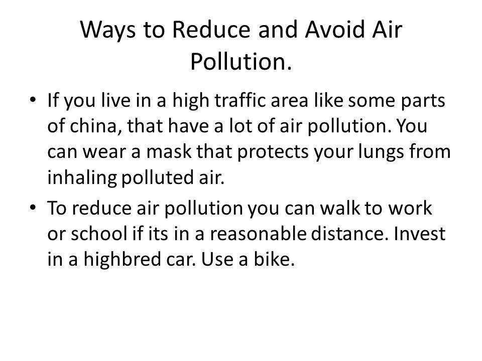 how to reduce air polution