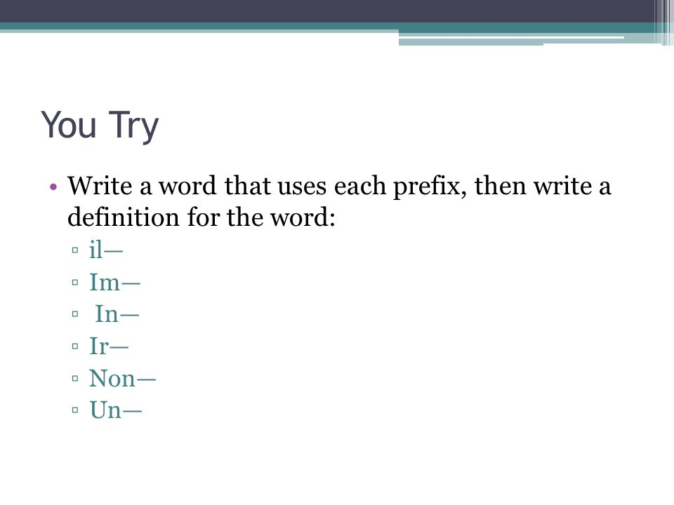 Prefixes and Suffixes. - ppt download  Try Word
