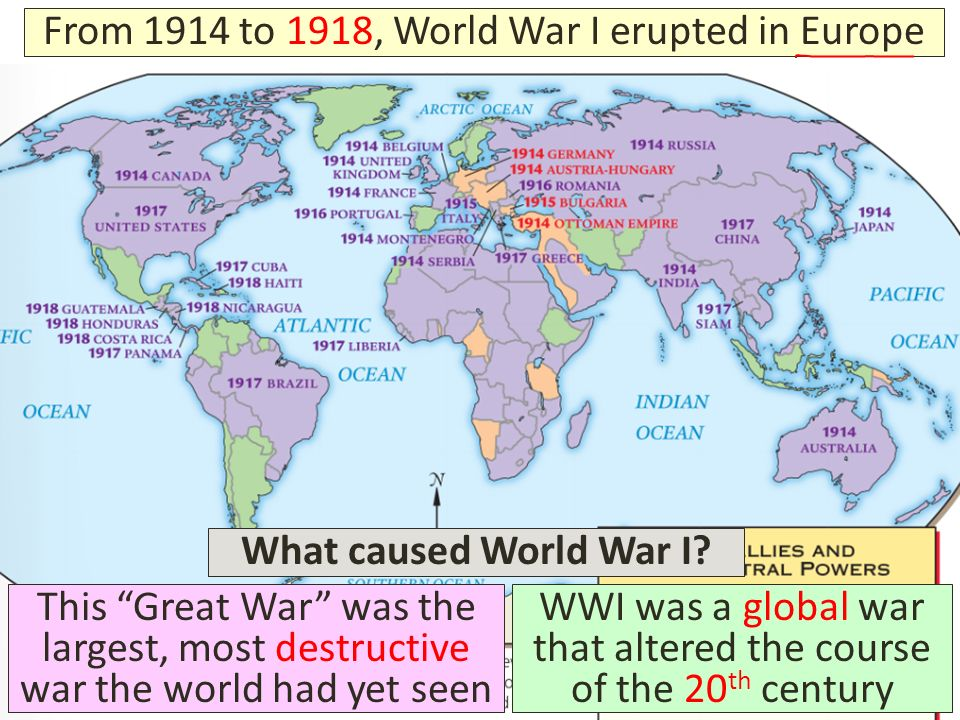 the causes beginning and course of the world war i This lesson explores the causes of the first world war suitable for year 8 or 9 students starter, main activities and plenary all provided this lesson explores the causes of the first world war suitable for year 8 or 9 students  courses courses home for prospective teachers for teachers for schools for partners.