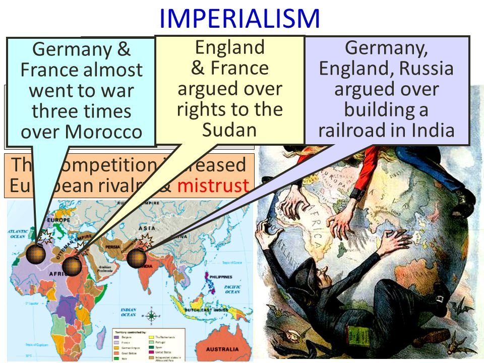 imperialism on wwi Imperialism, capitalism and world war i imperialism - as noted earlier, many people (including lenin and many marxists) saw a direct connection between 'imperialism' and the war—lenin argued both were direct effects of a particular, final stage of capitalism.