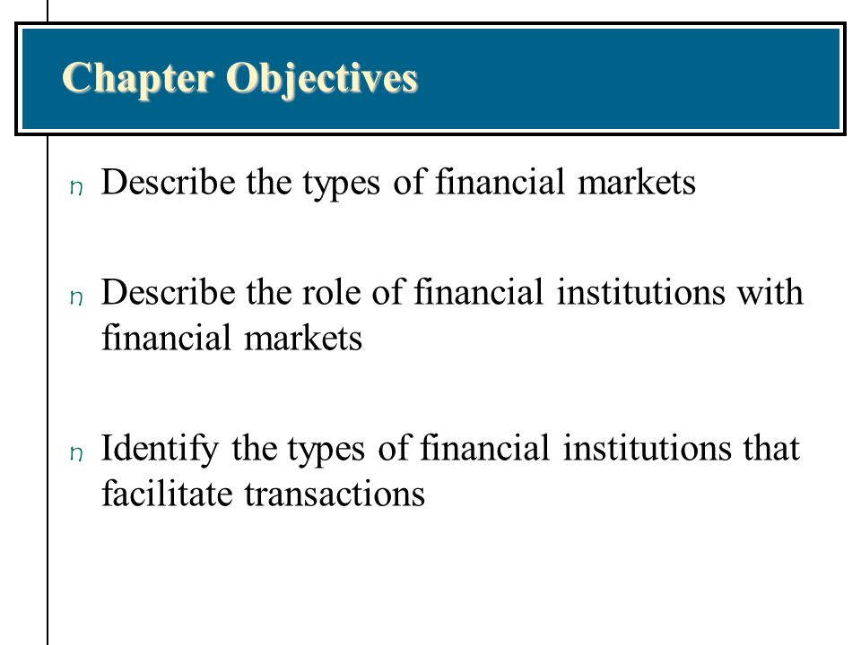 overview of financial markets institutions and Download financial markets and institutions (8th edition) by frederic s mishkin, stanley eakins pdf free, current market trends and latest practices.