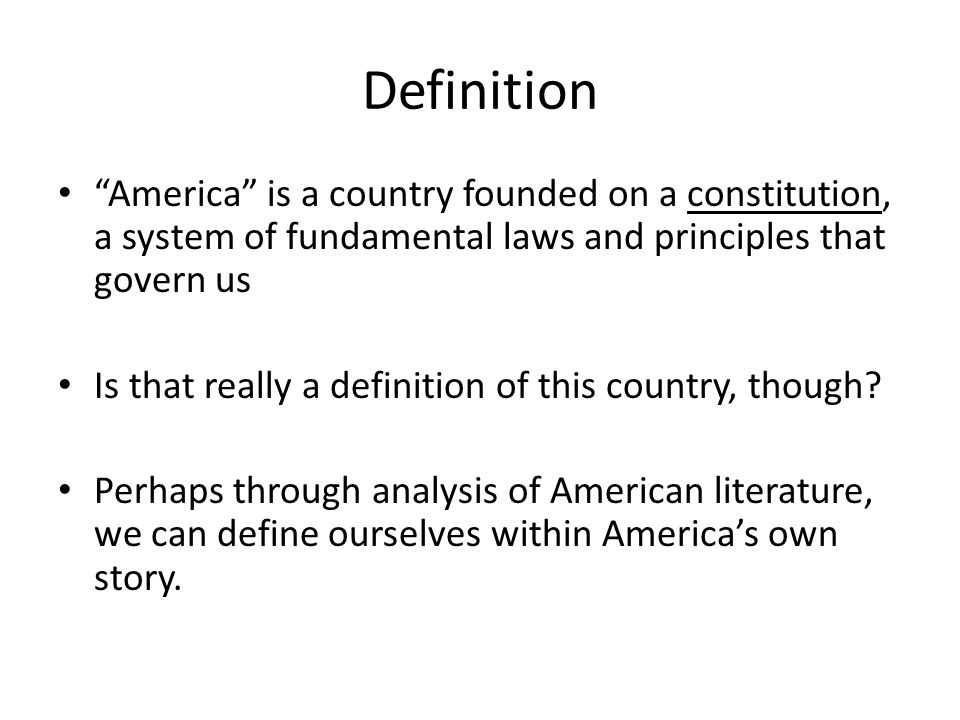 definition of american literature