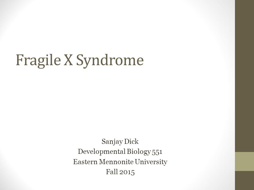 Fragile X Syndrome Testicles