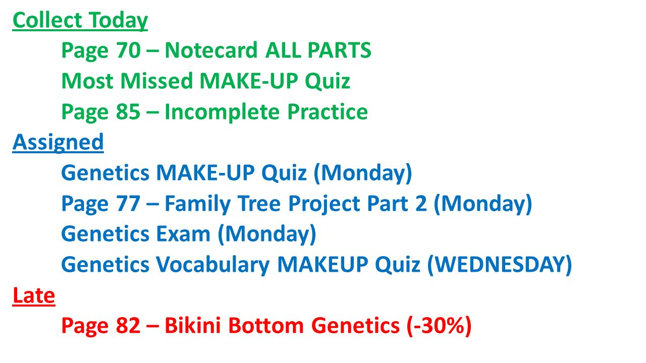 Bikini bottom genetics worksheet 1 answers