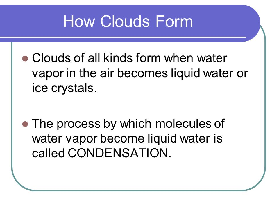 Water in the Atmosphere - ppt video online download