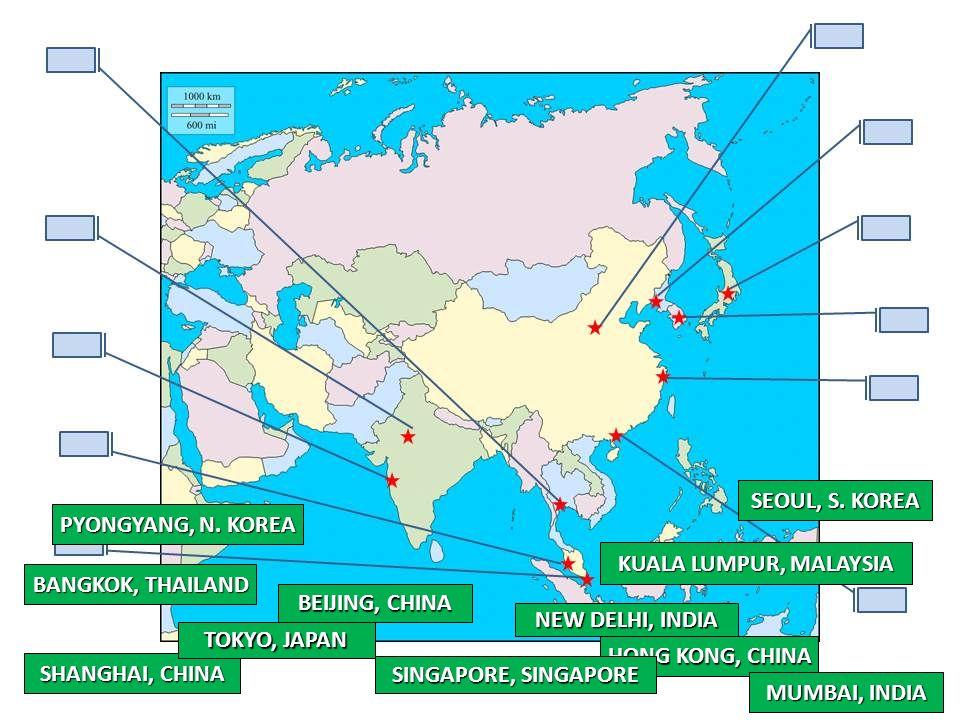 Seoul S Korea Pyongyang N Korea Kuala Lumpur Malaysia Ppt
