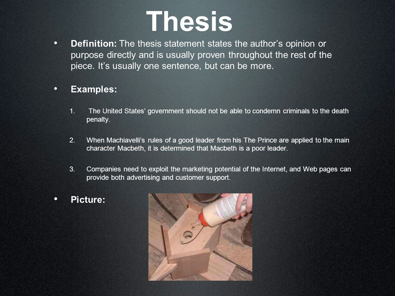 Master s Thesis Outline  Examples  Structure  Proposal FC