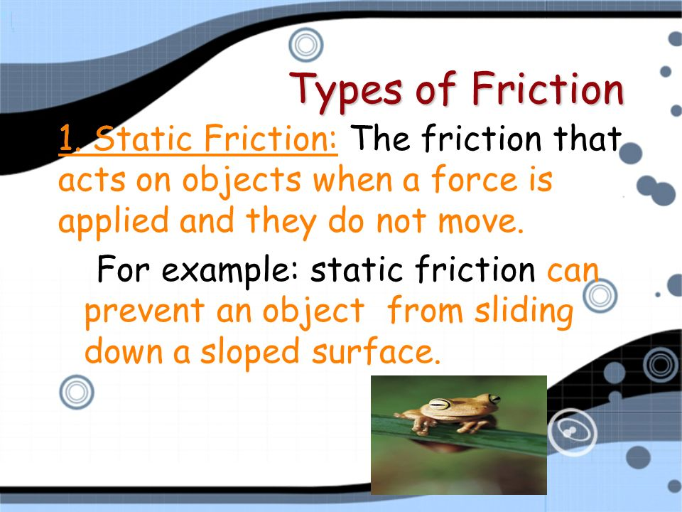 Example Of Static Friction Valuedirectoriesfo
