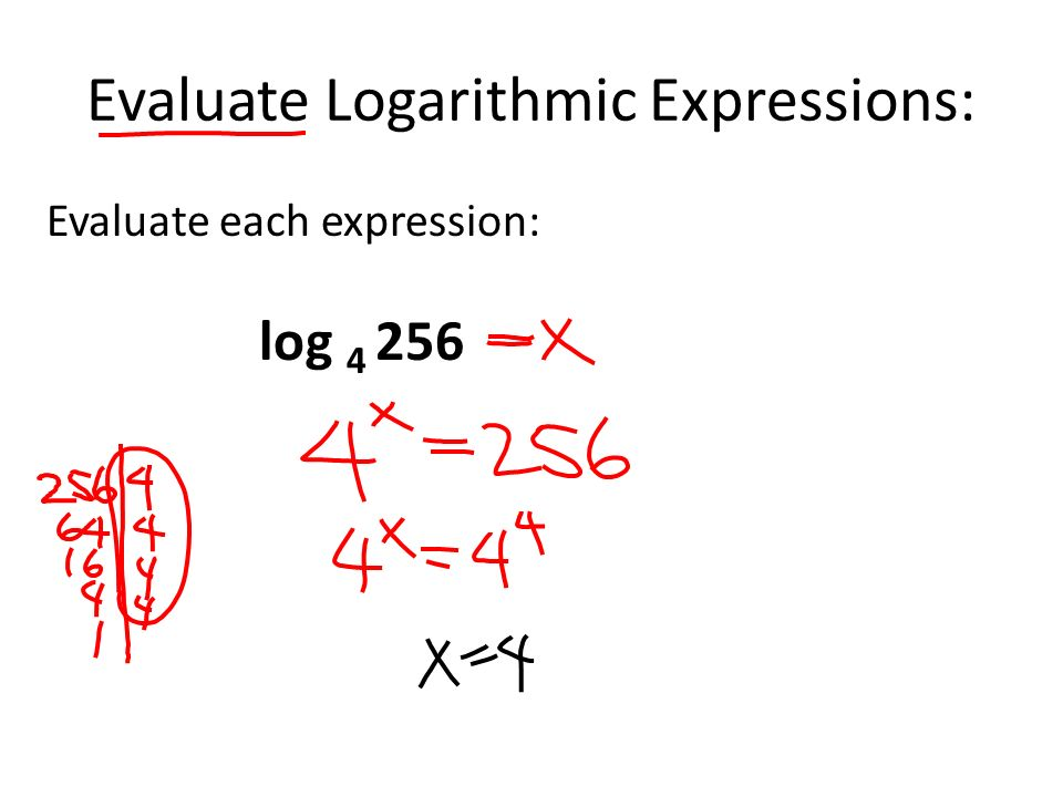 how to solve logarithmic expressions