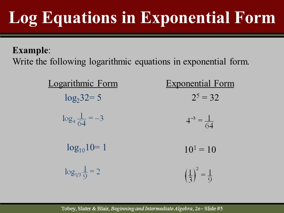 Logarithmic and Exponential Functions - ppt download