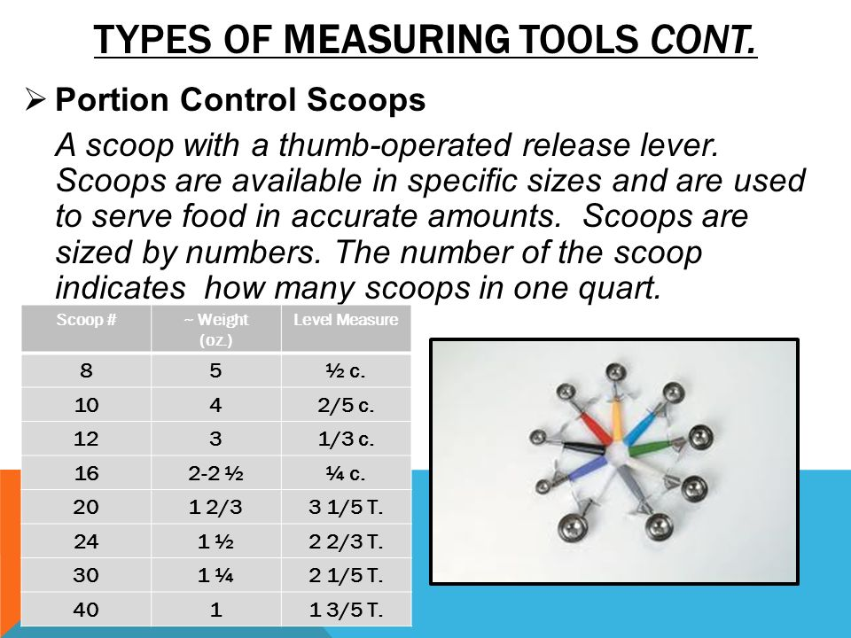 Types Of Measuring Instruments : Food service occupations ppt video online download