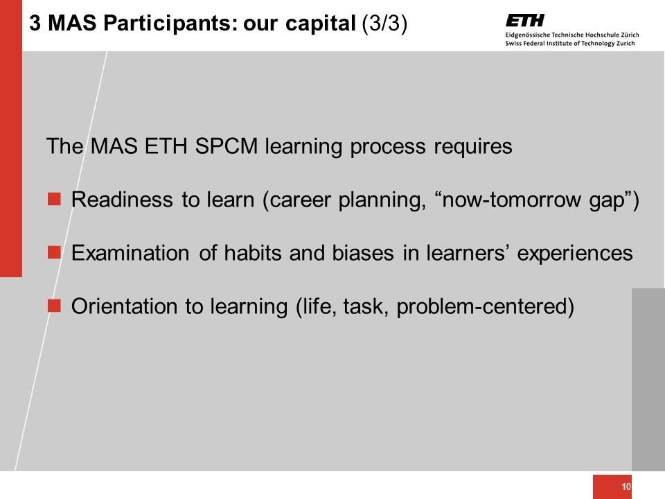 3 MAS Participants: our capital (3/3)