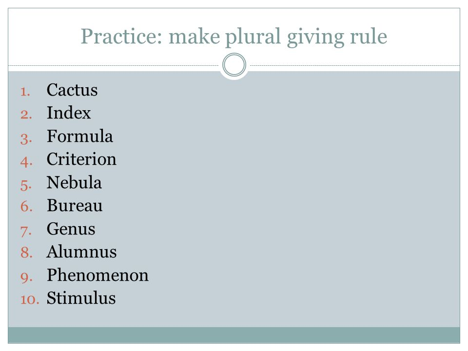 Making singular nouns plural using spelling rules - ppt video ...