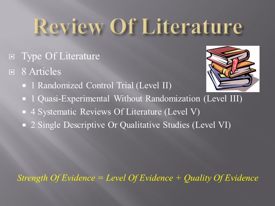 Literature review on acceptance level of