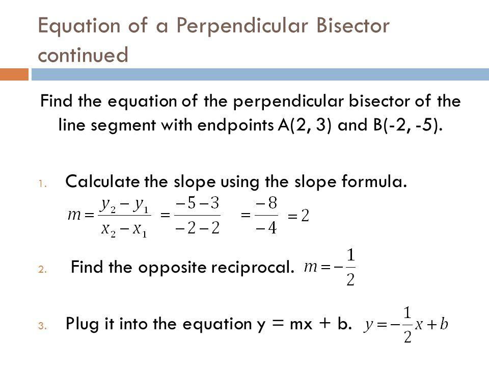 how to draw a perpendicular bisector of a line