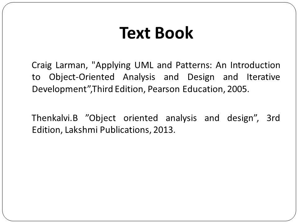 uml and design patterns book pdf