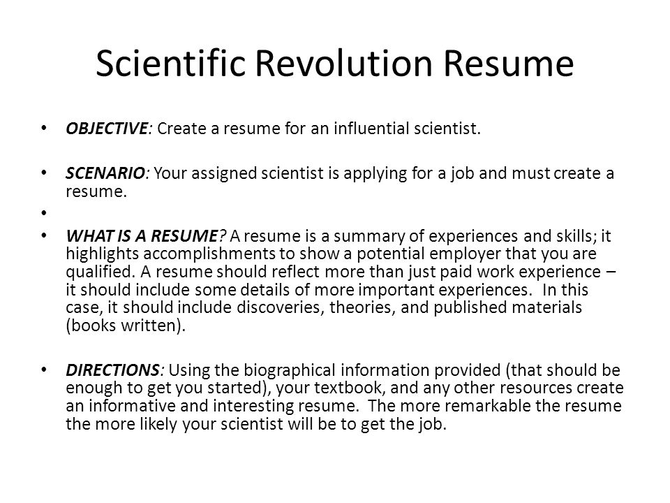 What Is A Summary On A Resume - Contegri.com