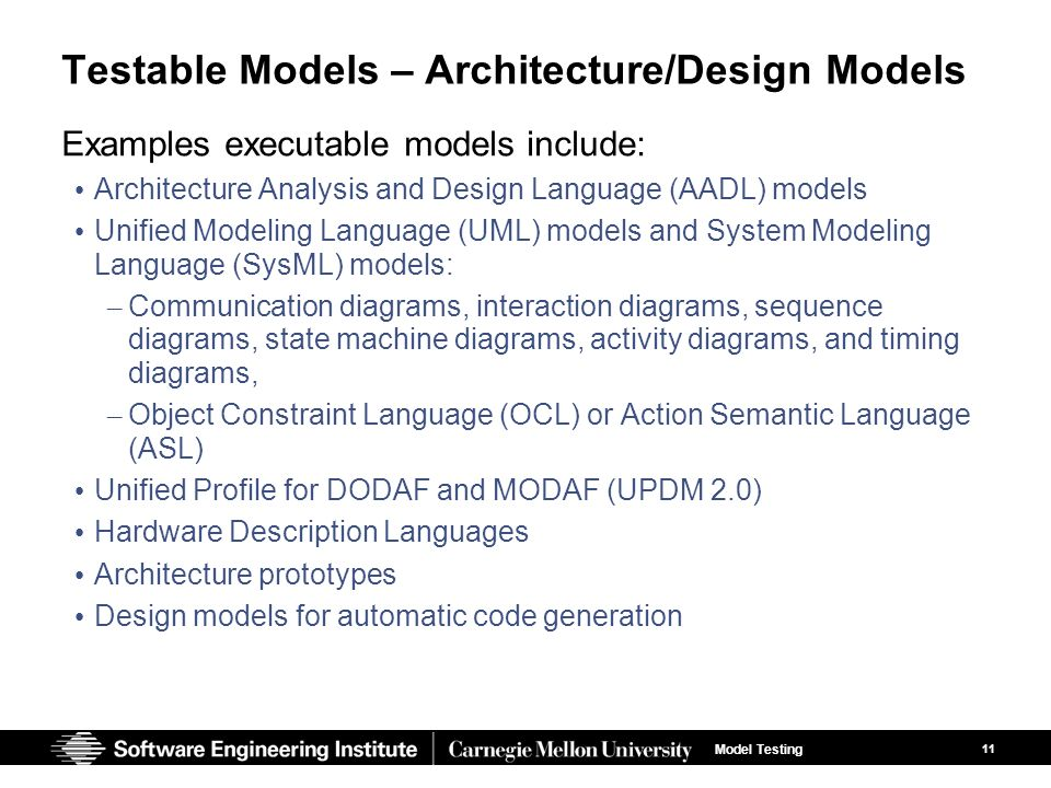Author software engineering institute ppt video online for Architecture design language