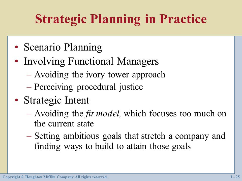 planned strategy emergent strategy and scenario planning On the concept of deliberate and emergent strategies and the cycle that exists   strategic gaps between an organization and the environment (harrison, 1996)  henry mintzberg defined strategy as a plan, among other things, that is a series  of.