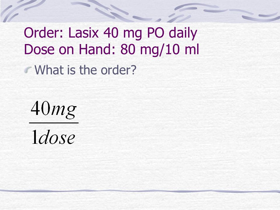 furosemide side effects