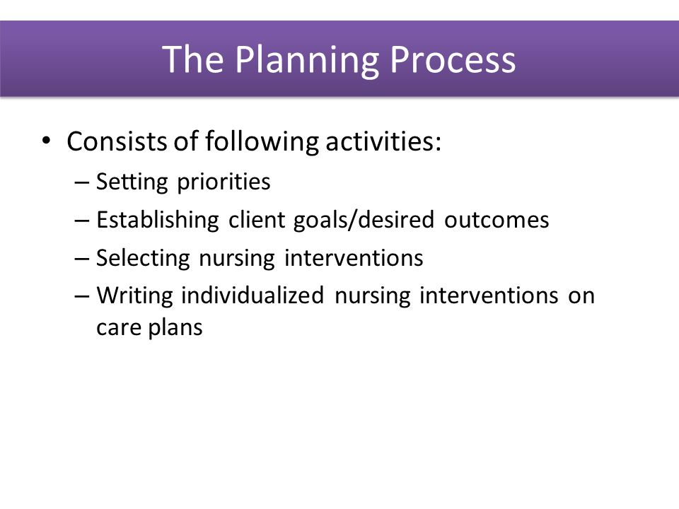 care planning process essay The organizational level at which the strategic planning process is relevant   with primary care in relation to a range of diseases, especially chronic ones.